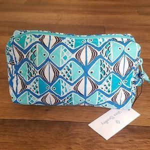 Vera Bradley Medium Cosmetic Bag Go Fish Blue